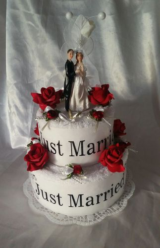 * Hochzeit * Handtuchtorte * Just Married *