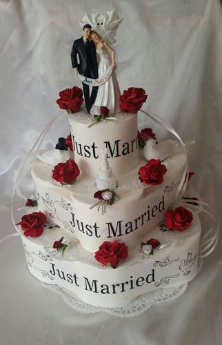* Hochzeit * Toilettenpapiertorte * Just Married *